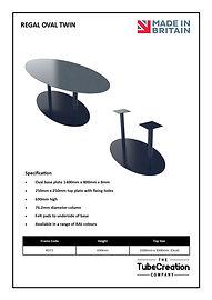 Regal Oval Twin frame spec sheet