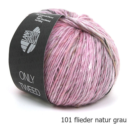 Only Tweed Fb. 101 flieder natur grau