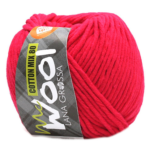 McWool Cotton Mix 80 Fb. 524 himbeer