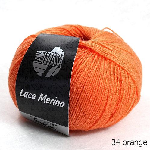 Lace Merino von Lana Grossa Fb. 34 orange
