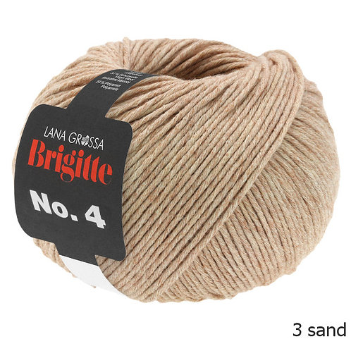 LANA GROSSA Brigitte No.4 sand Fb. 3