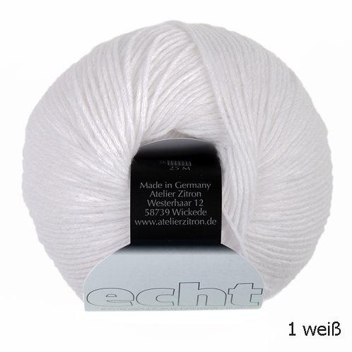 Echt Bio Baumwolle 1 weiß