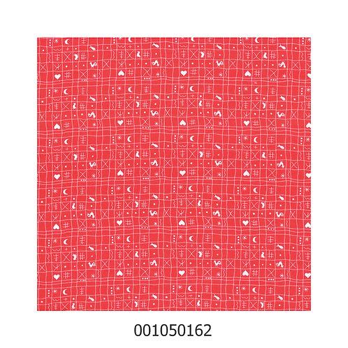 Westfalenstoff Hähnchen rot/weiß 162