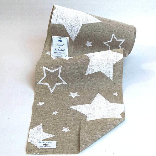 Leinenband bedruckt Sterne