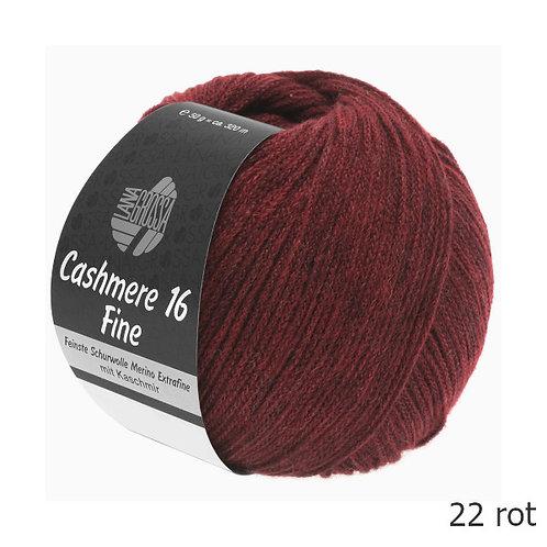 Cashmere 16 fine Fb. 22 rot