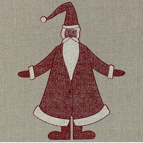 Leinenband ungebleicht bedruckt Nikolaus