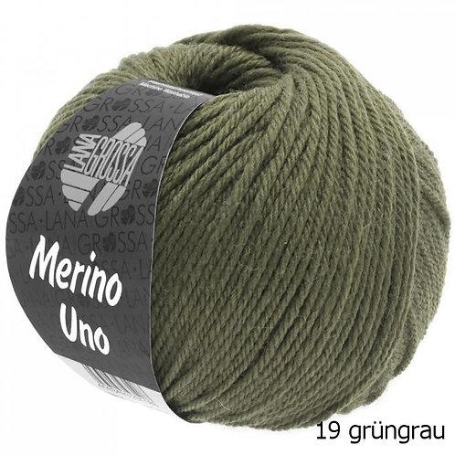 Merino Uno Fb. 19 grüngrau
