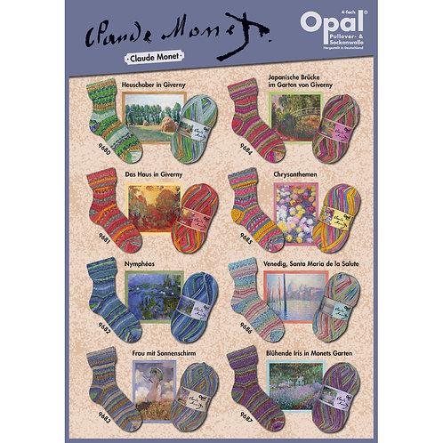 Farbkarte Opal Claude Monet Sockenwolle