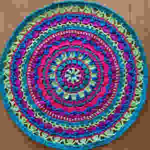 Gehäkeltes Mandala