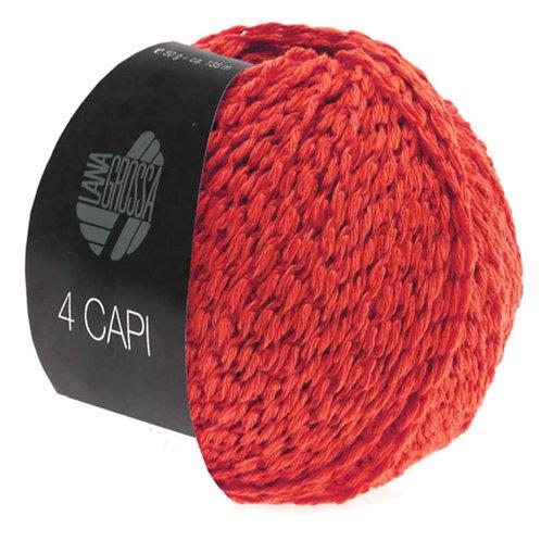 4 Capi Fb. 7 rot Sommerwolle Lana Grossa