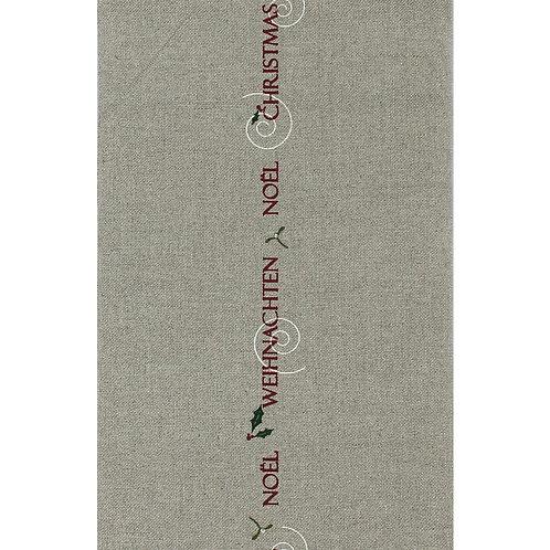 Leinenband mit farbigen Druck Weihnachten Rapport