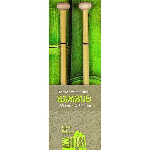 Jackenstricknadeln Bambus Detailansicht