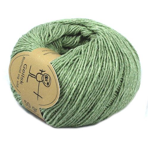 Bomuld og uld Geilsk Wolle 3 limettengrün
