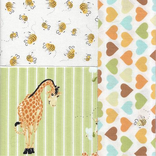 Patchworkstoffe Giraffendecke