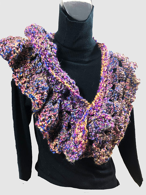 Purple Festival Crotchet scarf