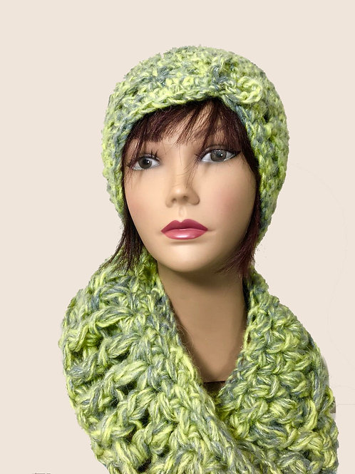 Celery Hat and Shawl