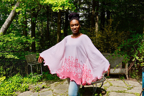 Pink Dots Butterfly Blouse