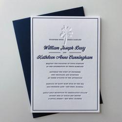 2 color letterpress invitation