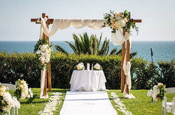 Ceremony with a view _belairbayclub_Florals...._moonatelier_la _pink_amber _pinknselina _Photography