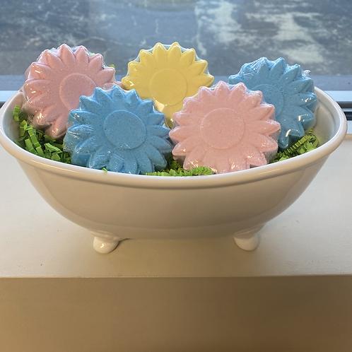 Flower bath bombs