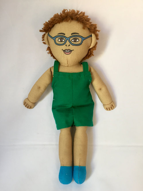 Bonecos diferentes - Criança Magra de Óculos