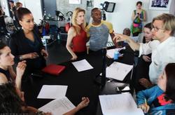 Jayce directing Tamara Tunie, Katherine Crockett and Desmond Richardson.