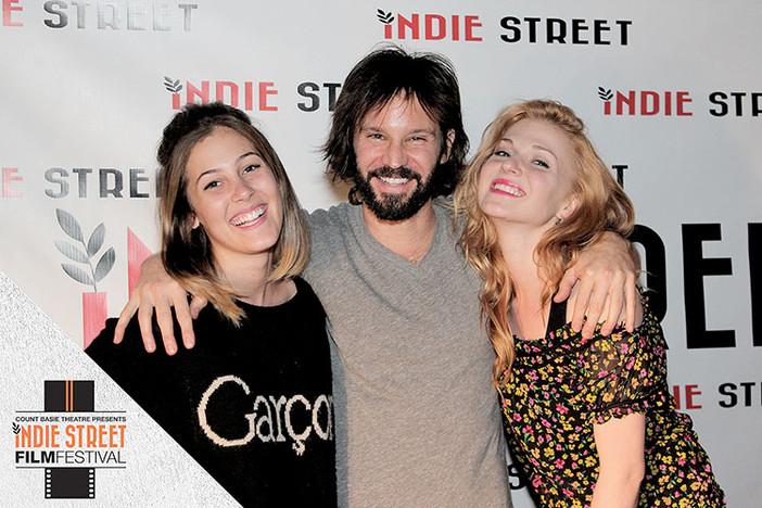 Kelli Reilly, Rodrigo Lopresti, and Natalia Z at Indie Street