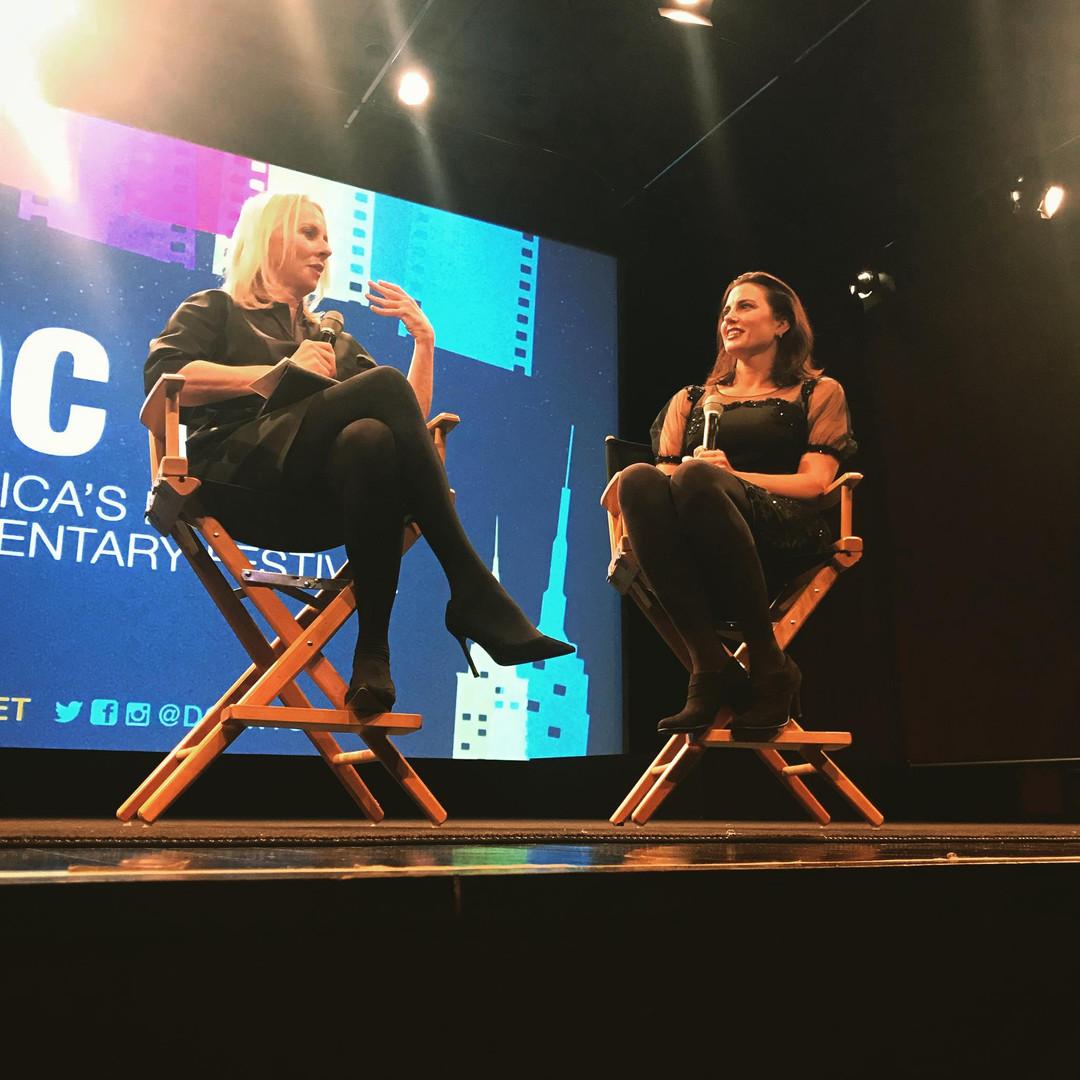 Linda Wells + Tiffany Bartok at DOCNYC