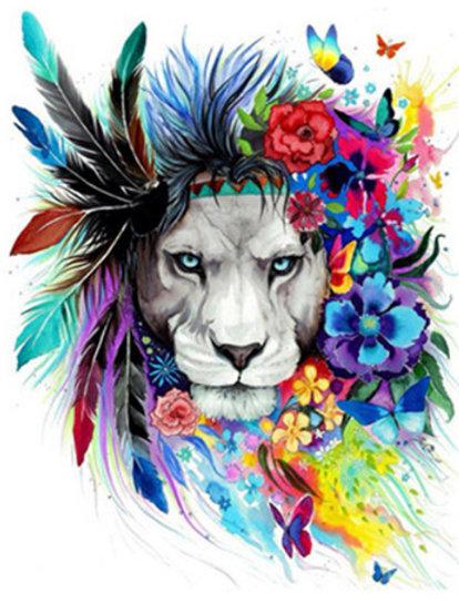 ציור לפי מספרים - אריה