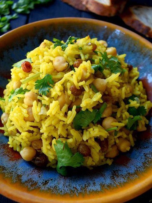 """אורז מלא עם גזר וגרגירי חומוס ( 0.5 ק""""ג)"""