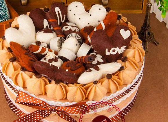 תפירת ערכה ענקית - עוגת שוקולד