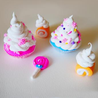 פיסול עוגות בגומי קליי
