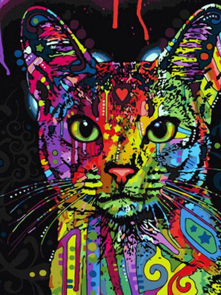 ציור לפי מספרים - חתול