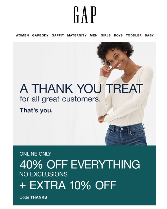 Retention email marketing example