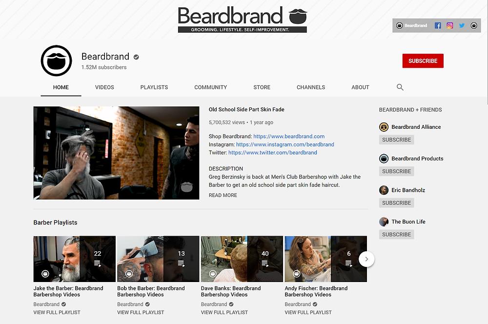 Beardbrand youtube channel