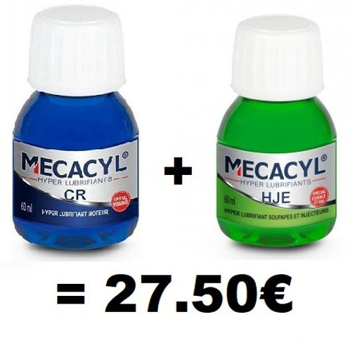 Hyperlubrifiant Mecacyl CR + Hyperlubrifiant Soupapes/injecteurs HJE