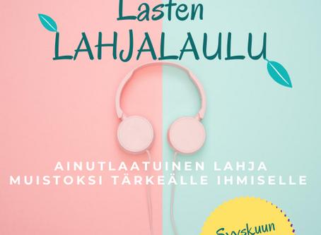 Syyskuun Synttäritarjous Lasten Lahjalaulu!