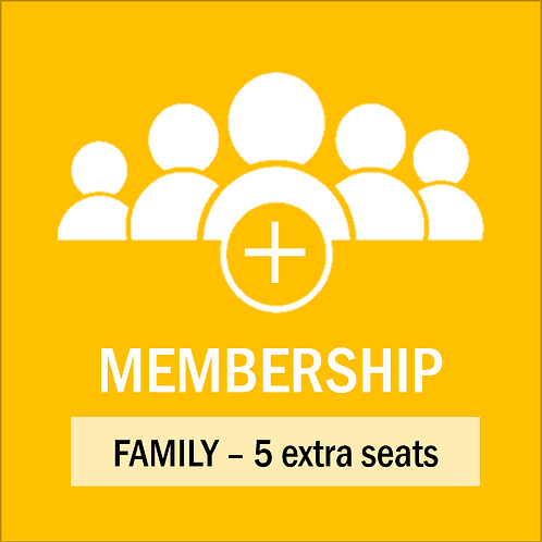 Annual Family Pass - 5 extra seats 2021-2022