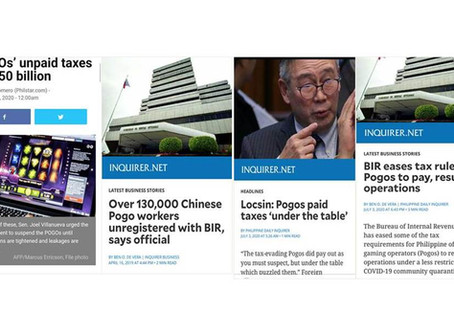 NEWS: China Pogos with 50Billion unpaid Taxes&130k Unregistered Workers paid taxes 'under the table'