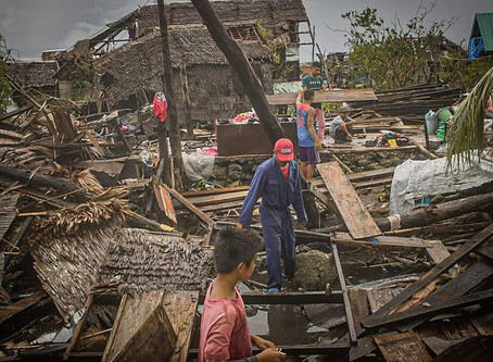 A Destructive Typhoon Calamity Hits Philippines in the Middle of a Pandemic Health Crisis