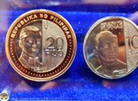 Bangko Sentral launches new P20 coin, enhanced P5
