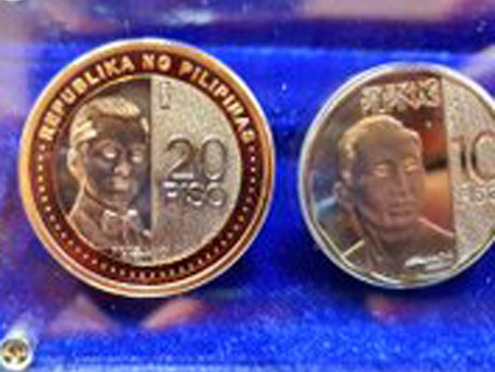 Bangko Sentral launches new P20 coin, enhanced P5