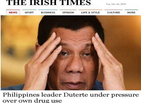Philippines leader Duterte under pressure over own drug use-The Irish Times