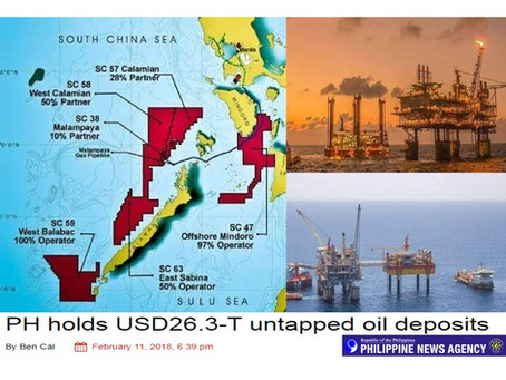 China eyes $26.3 Trillion Dollars Oil Deposit in Palawan after China Tapped Oil Reserve in Cebu