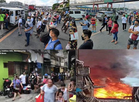Thousands stranded, forced to walk & hitch rides;While 1600 Families homes on fire on June 1 2020