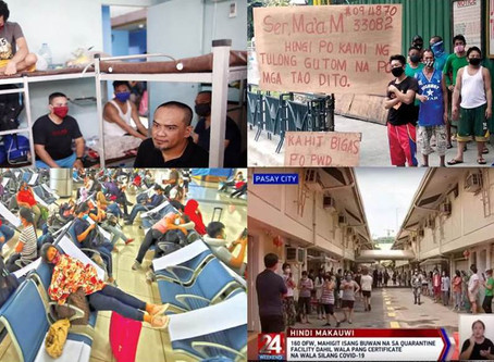 """OFWs & """"Probinsyano"""" Workers Stranded in NCR Feel Restless,Depression & Abandoned by Own Gov't"""