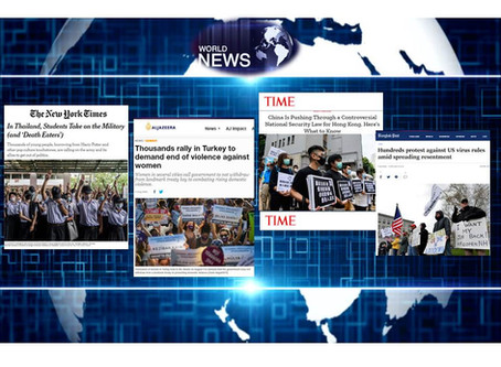 World News: Different Parts of the World Held Protests During the Pandemic