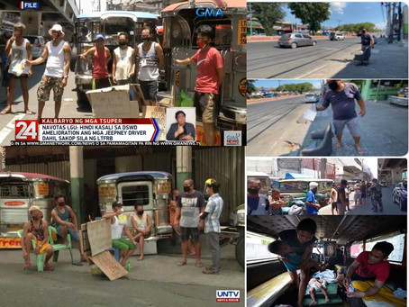 Out of Job Jeepney Drivers in PH Now Turn to Begging for Food