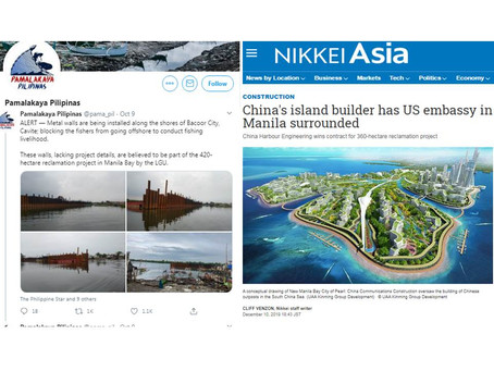 Filipino Fishermen Blocked from Fishing in Manila Bay Area for China Funded Artificial Island