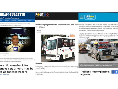 Modern jeepneys to resume operations in NCR; Not for Traditional jeepneys-phaseout to proceed